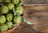 artichokes in the basket