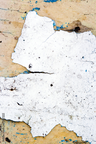 old wooden wall with white paint