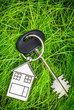 House key and green grass