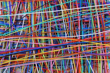 Фон из цветных проводов