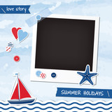 Nautical scrapbook elements, photoframe