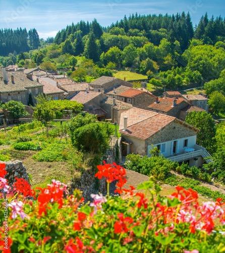 Foto op Canvas Klaprozen Magnifique village de Chalencon en Ardèche, France