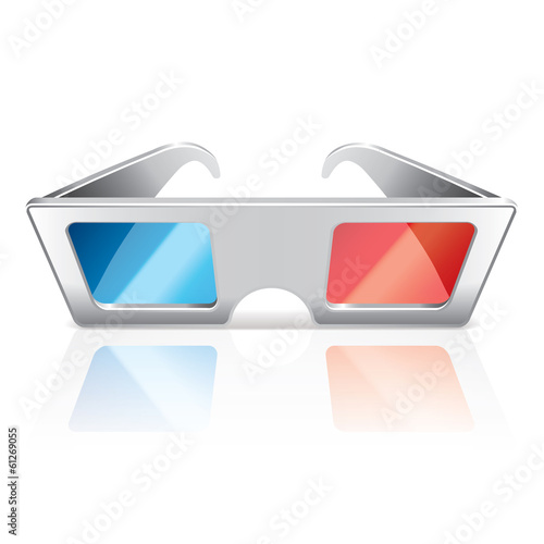 3d glasses isolated on white vector