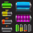 Vector battery set with different charge levels - 61270051
