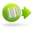 code-barres sur symbole web vert