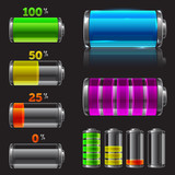 Vector battery set with different charge levels