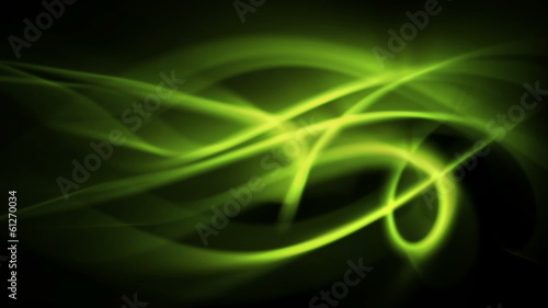 abstract green light rays in curved motion (FULL HD)