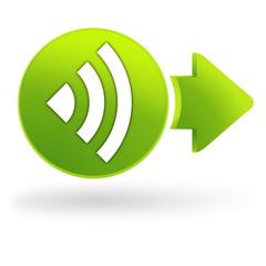 wifi sur symbole web vert