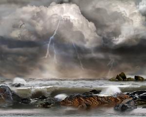 Gewitter, Unwetter auf See