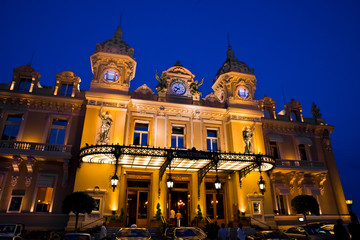 Casino in Monaco. Night landscape.