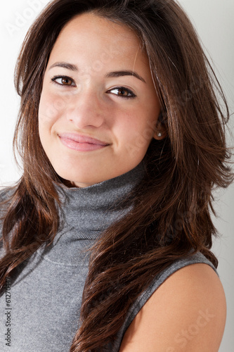 Portrait of brunette beautiful girl