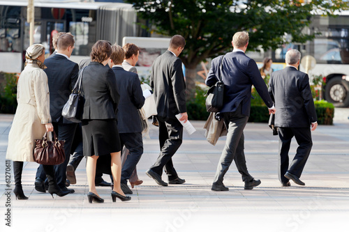 Large group of businessmen and business women.