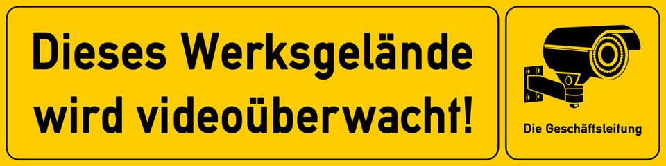 Werksgelaende - Hinweisschild für Videoueberwachung - g507 - vu2