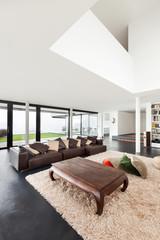 Architecture, beautiful interior of a modern villa