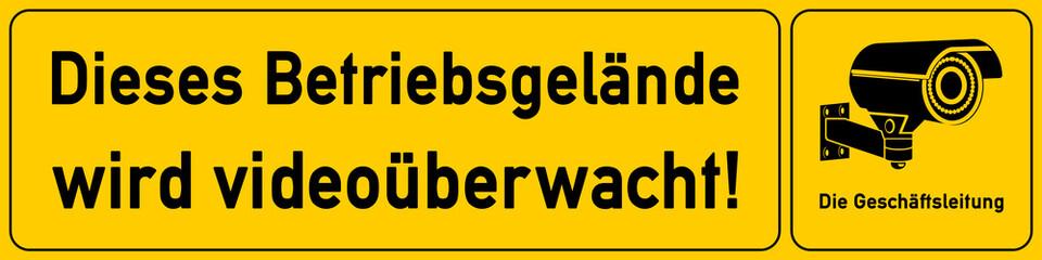 Betriebsgelaende - Schild für Videoueberwachung - g508 - vu3