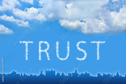 Trust text on cloud