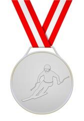 Silberne medaille Österreichische skiläufer