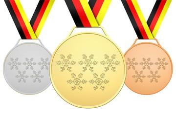 Deutsche Medaillen mit 5 Flöckchen