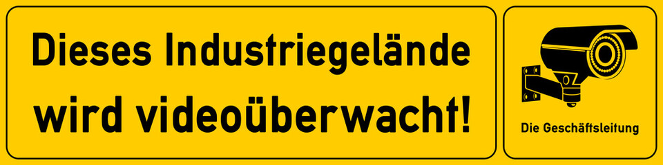 Industriegelaende - Schild für Videoueberwachung - g509 - vu4