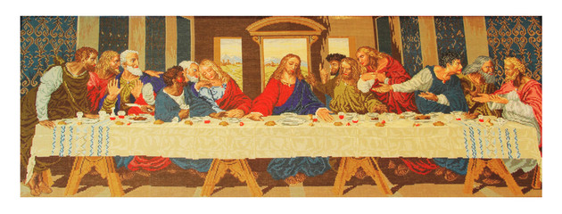 Hand made, needlepoint  Last Supper