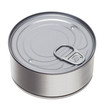 tin can on a white background