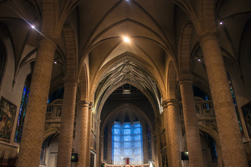 Interior of the Notre-Dame Cathedral in Luxembourg