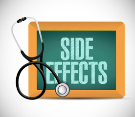 medical side effect sign illustration design
