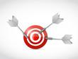 target and multiple darts. illustration design