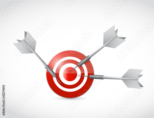 target and multiple darts. illustration design