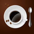 Realistic white with black coffee