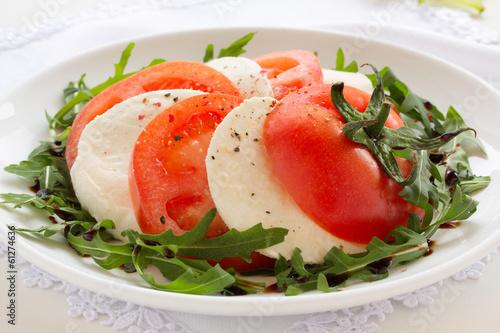 """Caprese"" salad with mozzarella cheese."
