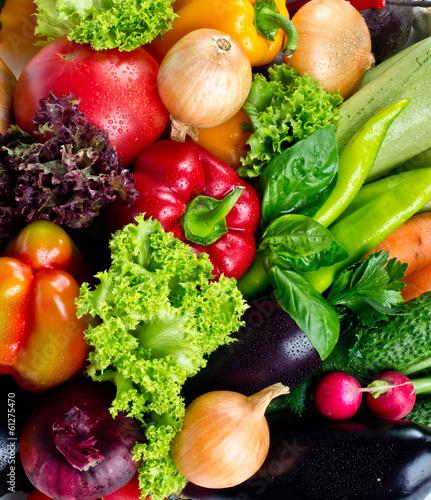 Obraz na Plexi fresh fruits and vegetables