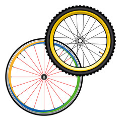 bicycle wheels for road and mountain bike