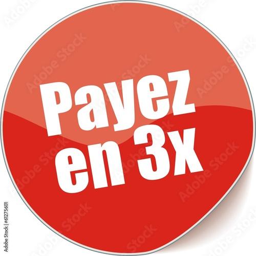 étiquette payez en 3x