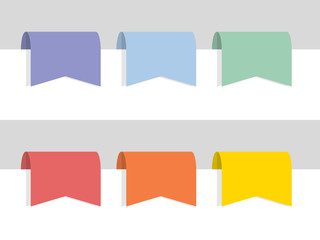 Flat color labels