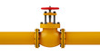 Stop valve and pipeline - 61276455