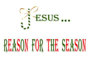 Christmas-Candy Cane Jesus