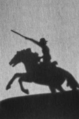 Rider on a horse, silhouette
