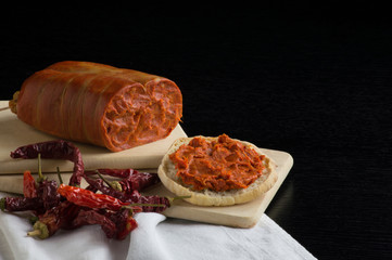 nduja, Italian salami typical of Calabria