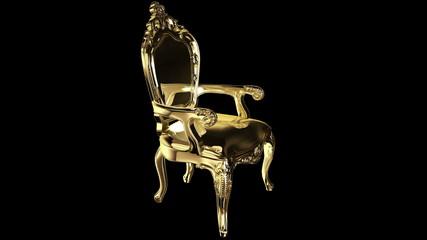 Elegant classic gold armchair