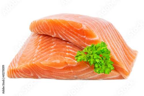 Deurstickers Vis Lachs - Filet