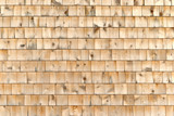 Cedar shingle wall exterior