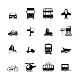Fototapety Transportation pictograms collection