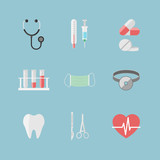 Health care pictograms for hospital website
