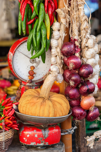 Traditional Vegetable cart - Stock Image