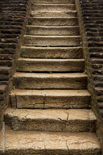 Fotobehang Trappen Ancient stone stairs