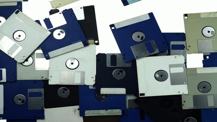 old floppy disk stop motion transition