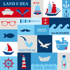 Nautical Sea Design Elements - for scrapbook and design