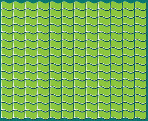 abstract green flag