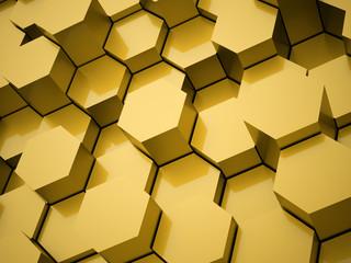 Yellow hexagonal background